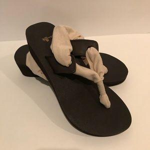 Sanuk Yoga Slinglet Wedge Metallic Neutral 7